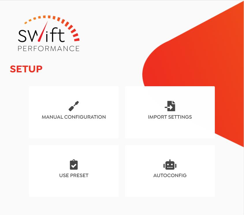 Screenshot Swift Performance Setup Wizard