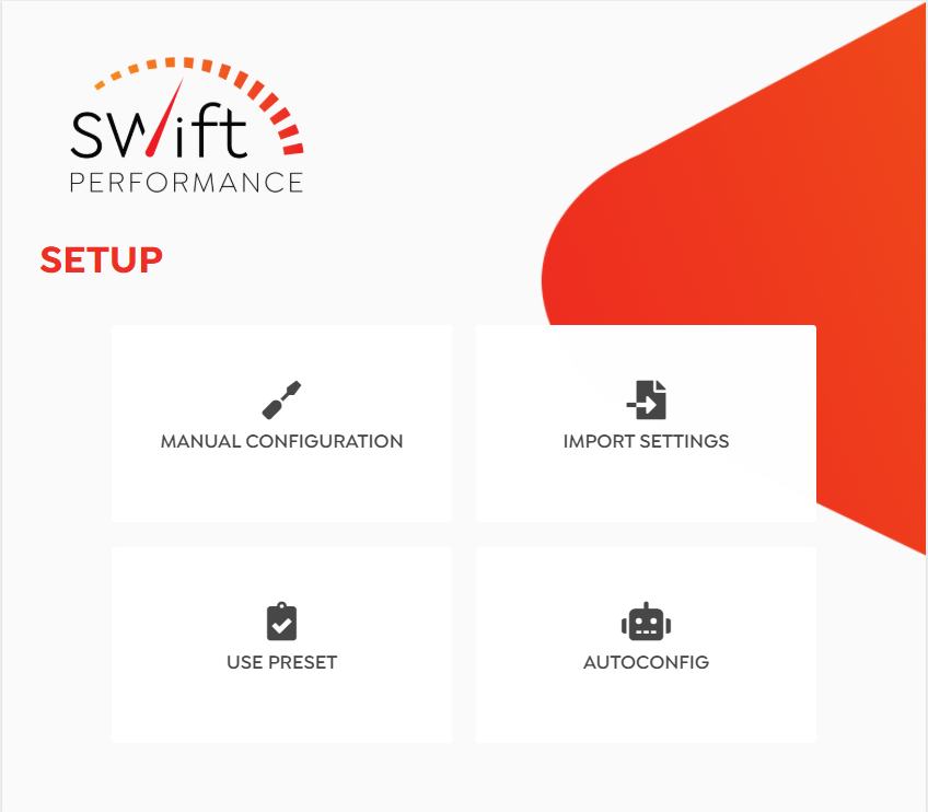 Swift Performance Setup Wizard - Dashboard