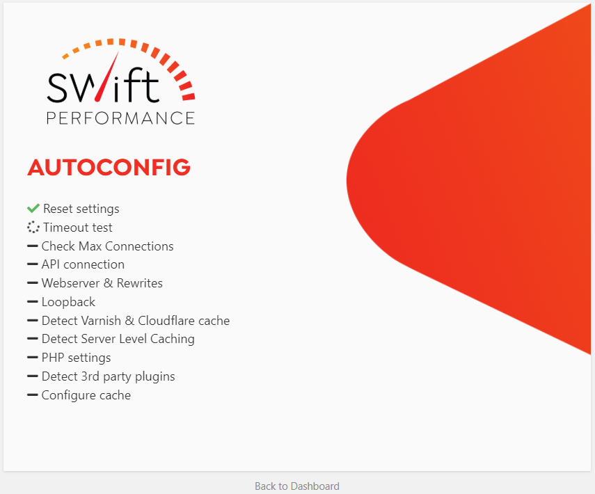 Swift Performance Setup Wizard - Autoconfig